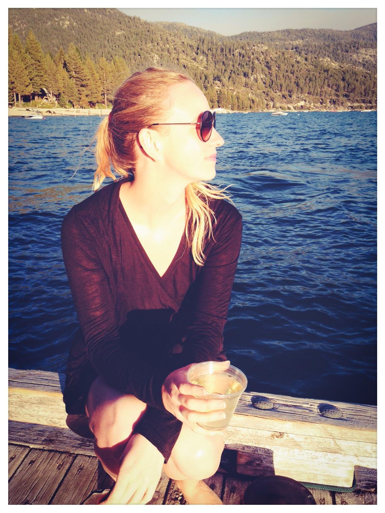 Hyatt Lake Tahoe, Nikola enjoying the sunset